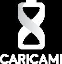 Logo caricami, versione verticale, bianco